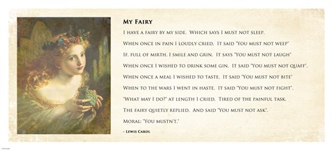 Framed My Fairy by Lewis Carroll - wide Print