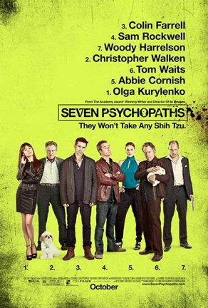 Framed Seven Psychopaths B Print