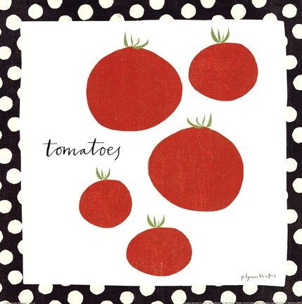 Framed Simple Tomatoes Print