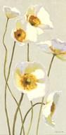 White on White Poppies Panel I  Fine Art Print