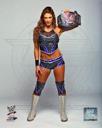 Framed Eve with the Divas Championship Belt 2012 Posed Print
