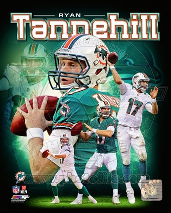 Framed Ryan Tannehill 2012 Portrait Plus Print