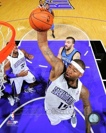 Framed DeMarcus Cousins on the court 2012-13 Print