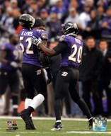 Ray Lewis & Ed Reed walk off the field together for the last time during Lewis' final game in Baltimore, January 6, 2013  Fine Art Print