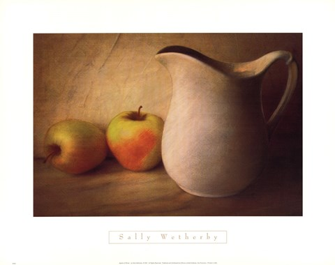 Framed APPLES AND PITCHER Print