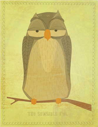 Framed Sensible Owl Print
