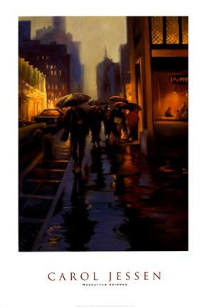 Manhattan Shimmer Fine Art Print By Carol Jessen At