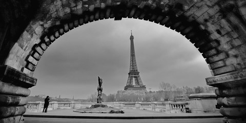 Framed Paris, Under the Bridge Print