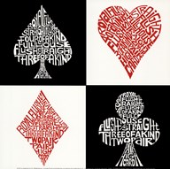 Poker Hands  Fine Art Print