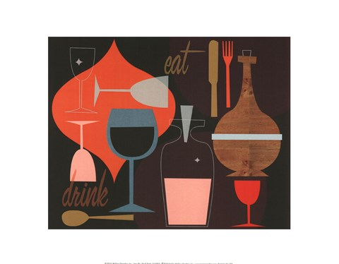 Framed Eat & Drink Print