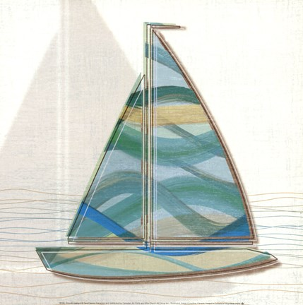Framed Smooth Sailing II Print