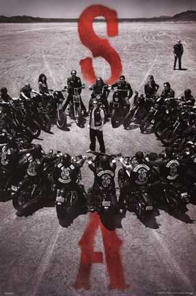 Framed Sons of Anarchy - Bike Circle Print