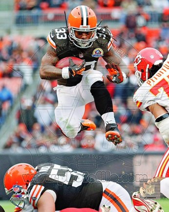 Framed Trent Richardson 2012 Football Action Print