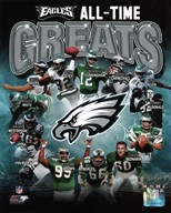 Philadelphia Eagles All Time Greats Composite  Fine Art Print