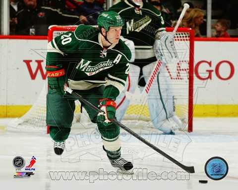 Framed Ryan Suter On The Hockey Field Print