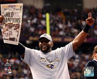 Ray Lewis Super Bowl XLVII Celebration  Fine Art Print
