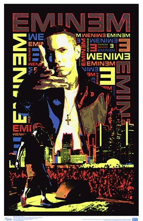 Framed Black Light - Eminem Print
