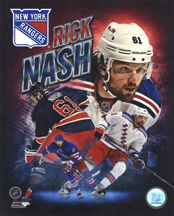 Framed Rick Nash 2013 Portrait Plus Print