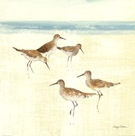Sand Pipers Square I  Fine Art Print