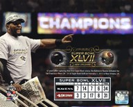 Ray Lewis Super Bowl XLVII Champion Overlay  Fine Art Print