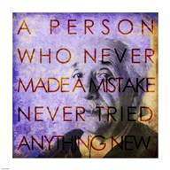 Einstein – Never Made a Mistake Quote  Fine Art Print