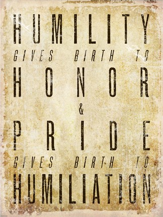 Framed Humility Quote Print