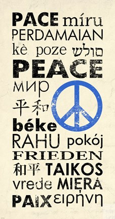 Framed Peace Around the World Print