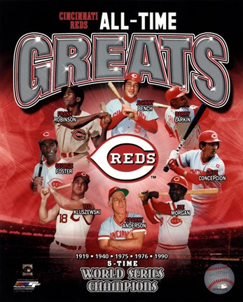Framed Cincinnati Reds All-Time Greats Print