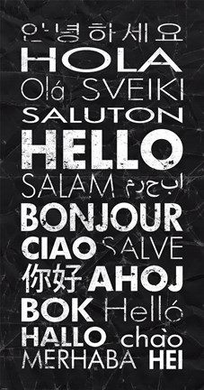 Framed Hello in Different Languages Print