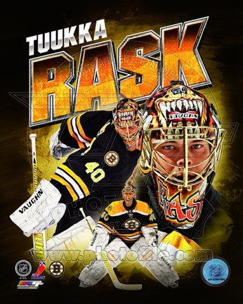 Framed Tuukka Rask 2013 Portrait Plus Print