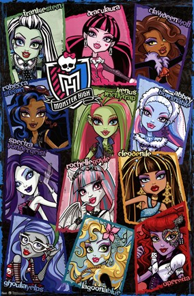 Framed Monster High - Grid Print