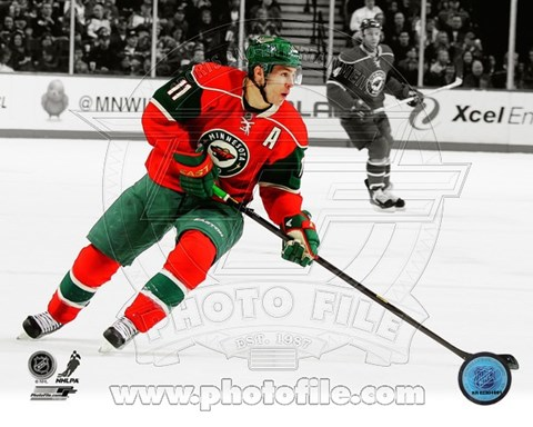 Framed Zach Parise 2012-13 Spotlight Action Print