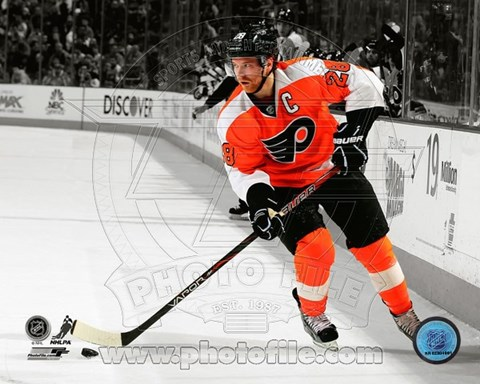 Framed Claude Giroux 2012-13 Spotlight Action Print