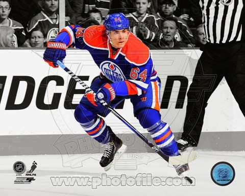Framed Nail Yakupov 2012-13 Spotlight Action Print