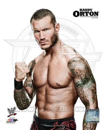 Framed Randy Orton Posed Print