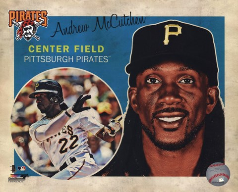 Framed Andrew McCutchen 2013 Studio Plus Print