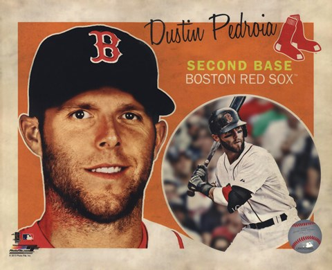 Framed Dustin Pedroia 2013 Studio Plus Print