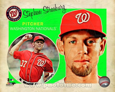Framed Stephen Strasburg 2013 Studio Plus Print