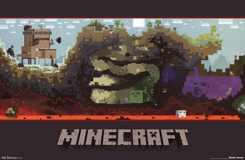 Framed Minecraft - World Print