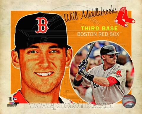 Framed Will Middlebrooks 2013 Studio Plus Print