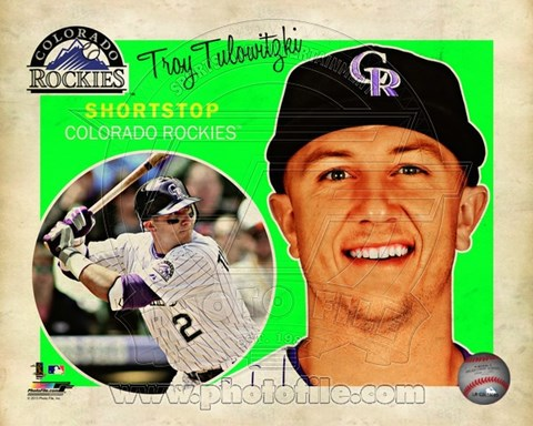 Framed Troy Tulowitzki 2013 Studio Plus Print