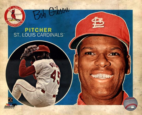 Framed Bob Gibson 2013 Studio Plus Print