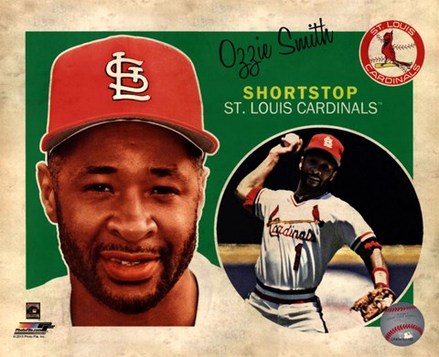 Framed Ozzie Smith 2013 Studio Plus Print