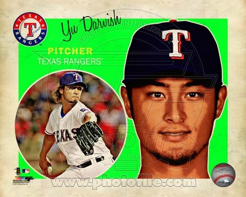 Framed Yu Darvish 2013 Studio Plus Print