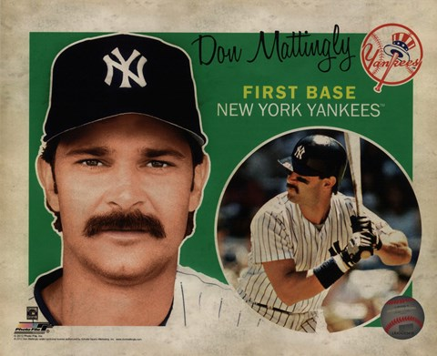 Framed Don Mattingly 2012 Studio Plus Print