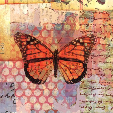 Framed Homespun Butterfly IV Print