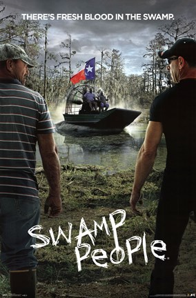 Framed Swamp People - Key Art Print