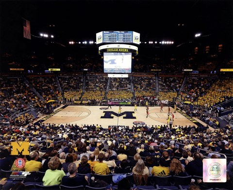 Framed Crisler Center University of Michigan Wolverines 2012 Print