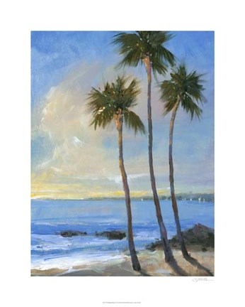 Framed Tropical Breeze II Print