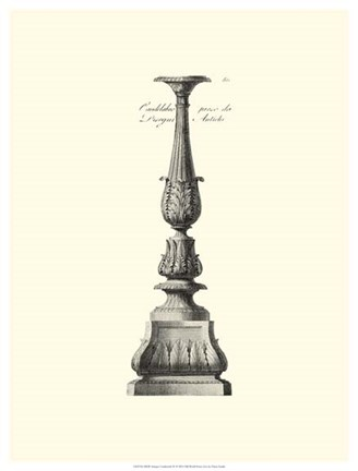 Framed B&W Antique Candlestick IV Print